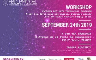 """Fashion Big Data Technology Platform"" next September in Paris"