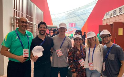 Young volunteers deployed by EYVOL during the World Athletic Championship
