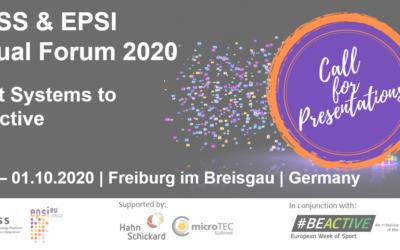 EPSI-EpoSS Annual Forum in September: Call for Presentations