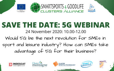 #SmartSports4GoodLife: special webinar on 5G scheduled next 24th November