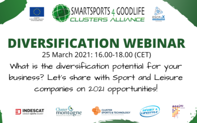 #SmartSports4GoodLife: webinar on Diversification scheduled next 25th March